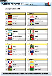 WM-Planer Fußball Weltmeisterschaft 2006 (deutsch/netherlands)