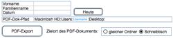 PDF-Export mit berechnetem Namen